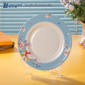 Chinese style plate and spoon fine bone china latest dinner set with popular design