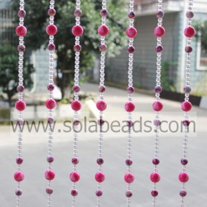 Christmas Wreath 20MM&14MM&8MM Wired Plastic Bead Garland Trimming