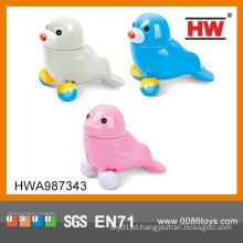 Projeto novo B / O brinquedo animal 12CM leões de mar com 6PCS / BOX musical