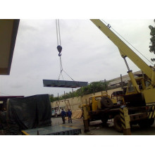 Truck Scale Hanging by Crane to Foundation