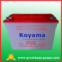 Cycle profond 12V140ah de charge sèche sèche de batterie électrique de tricycle pour le pousse-pousse électrique