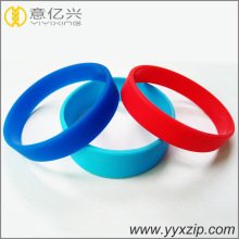 natural silicone blank logo wristband for teenagers