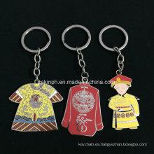 Llavero sintético modificado para requisitos particulares del esmalte chino del tema como regalos