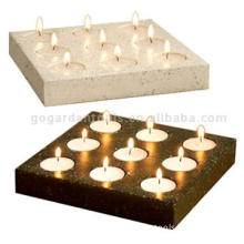 Small Stone T-Light Holder (Black and White)