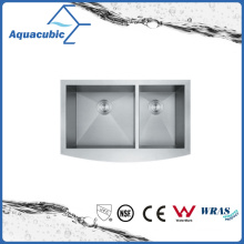 Classical Stainless Steel Apron Kitchen Sink (AS3321)