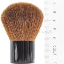 Частная этикетка Кожа для волос и металлическая ручка Kabuki Makeup Brush