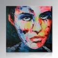 Ручная роспись современного холста поп-арт Абстрактная картина маслом с вашего фото