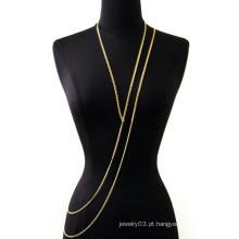 2015 novas cadeias de jóias de corpo de design cadeias de corpo infinito