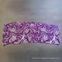 Poliéster Algodão Voile Butterfly Printing Lenço de toalha pequena