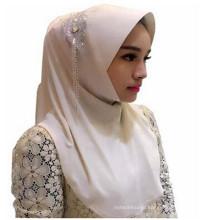 Мода женщин две facewomen хиджаб мусульманские платки/шарф