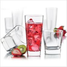 Fábrica de alta qualidade direta Whisky Glass Heat Resistant copo de vidro transparente