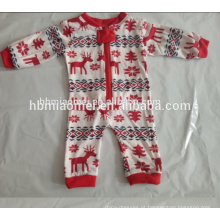 2017 hot vender impresso homewear família crianças natal pijama atacado