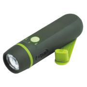 0.5W LED recargable emergencia antorcha plástico con manivela dinamo