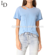 High Quality Clothing Manufacturer Design short sleeve women blouse tshirt