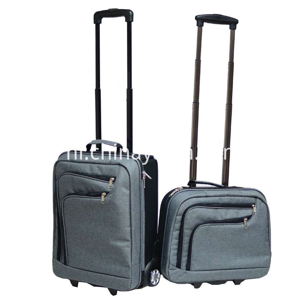 Two-Tone Material Trolley Luggage