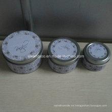 Serie de velas de estaño de diferentes tamaños