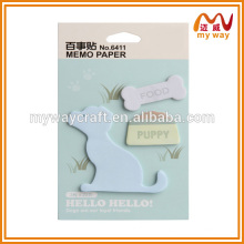 2016 planner cute custom cat shape note pads, sticky note for wholesales
