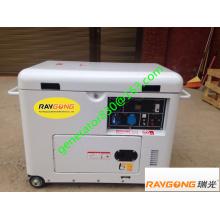 Groupe électrogène diesel frais de l'air 5KW 100% cuivre et sortie 230V monophasé