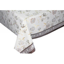 jacquard Transfer Printing Tablecloth with Silver/Gold