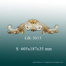 Accessoires décoratifs de plafond en style européen, décoration en polyuréthane pour décoration intérieure