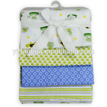 Stocked Cheap Printed Cotton Flannel Now Born Baby Infants Blankets