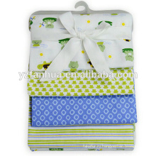 Укомплектованный дешевые ситец фланелевой теперь родился ребенок младенцев одеяла