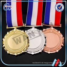 Beruf entwerfen Sie Ihre eigenen 3D-Logo-Stand-Blanks Medaille Rohlinge für Medaillen