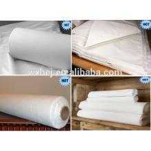 20s 120TC 60 * 60 100% tela blanca de algodón para el juego de sábanas