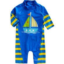 Bebê 0-24m Meninos Infantis Longsleeves One Piece Swimsuit Bebê Beachboy