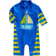 Ребенок 0-24 м новорожденных мальчиков Лонгсливы один кусок ребенка купальник пляжный мальчик