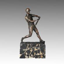 Sport-Statue Baseball-Spieler Bronze-Skulptur, Milo TPE-725