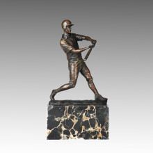 Sports Statue Baseball Player Bronze Sculpture, Milo TPE-725