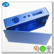 CNC machining blue anodizing case electronic cigar case