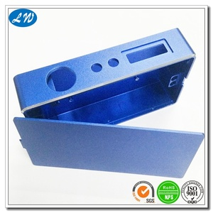 CNC machining blue anodizing electronic cigarette case part