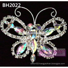 butterfly crystal crown pageant pin