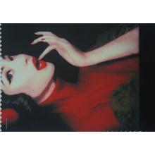 Polyester bedrucktes schönes Mädchen-Gewebe mit Gestrick