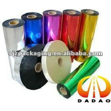 colorful Metallized PET film for food wrap