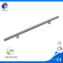 Fundición a presión de carcasa de aluminio de 12W led de luz lineal.