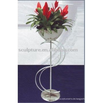 Edelstahl Blumentopf zur Dekoration