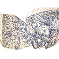 100%Cashmere Double Faced Animal Printed Shawl