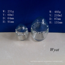 60ml 210ml Egg-Shape Glass Pudding Jar Glass Yogurt Jar 2oz 7oz