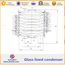 Condenseur à revêtement de verre - Condensateur chimique doublé de verre