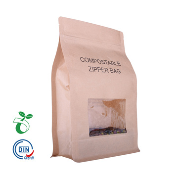 Eco Compostable / Biodegradable Food Packaging Bag con ventana al por mayor