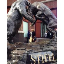célèbre bronze sculpture artistes métal artisanat ours taureau statue