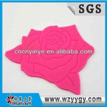 costume popular 2013 subiu coaster do copo do silicone em forma de taça