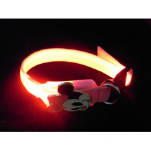 Wholesale Mickey Mouse led pet dog collar rechargeable