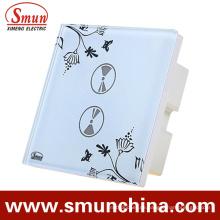 2-Tasten-Fernbedienung und Touch-Schalter, Wandschalter, ABS Feuerfest 1500W