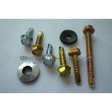 Self Drilling Screw Hex Head EPDM Washer Zinc