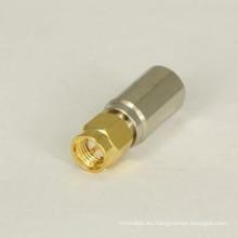 Conector RF del adaptador macho SMA a FME macho