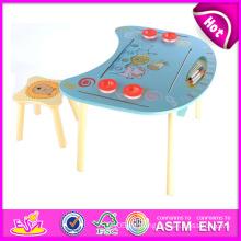 2014 Holztisch und Stuhl für Kinder, Studie Holztisch und Stuhl für Kinder, Hot Sale Holztisch und Stühle Spielzeug W08g127